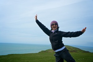 Feeling happy doing the things I love (hiking in the Isle of Wight)