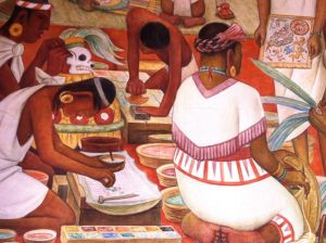 A Diego Rivera mural in Mexico City, reminding me of the beauty of travel