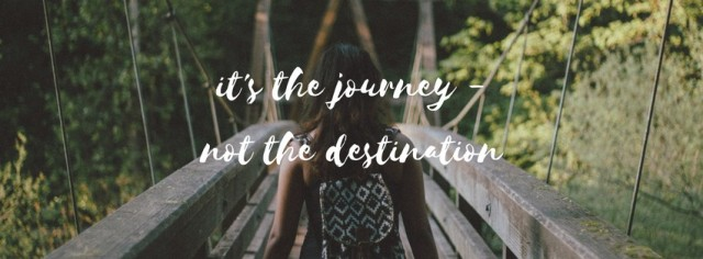 It's the journey